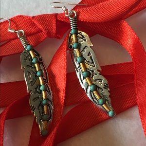 925 silver boho style leaf earrings ❤️⛄️